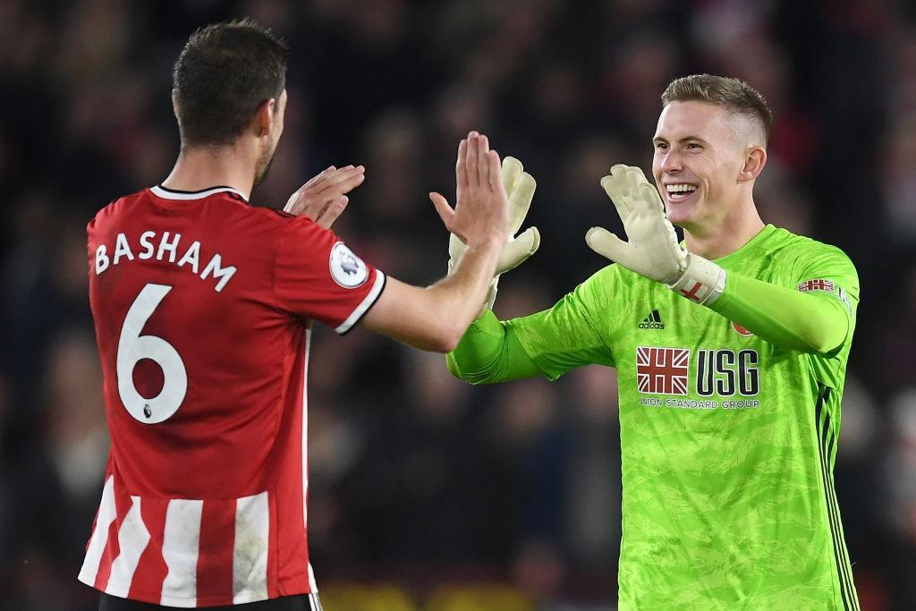 Hombres como Chris Basham o Dean Henderson han conseguido que el Sheffield United sea el equipo menos goleado de la Premier. / Getty Images