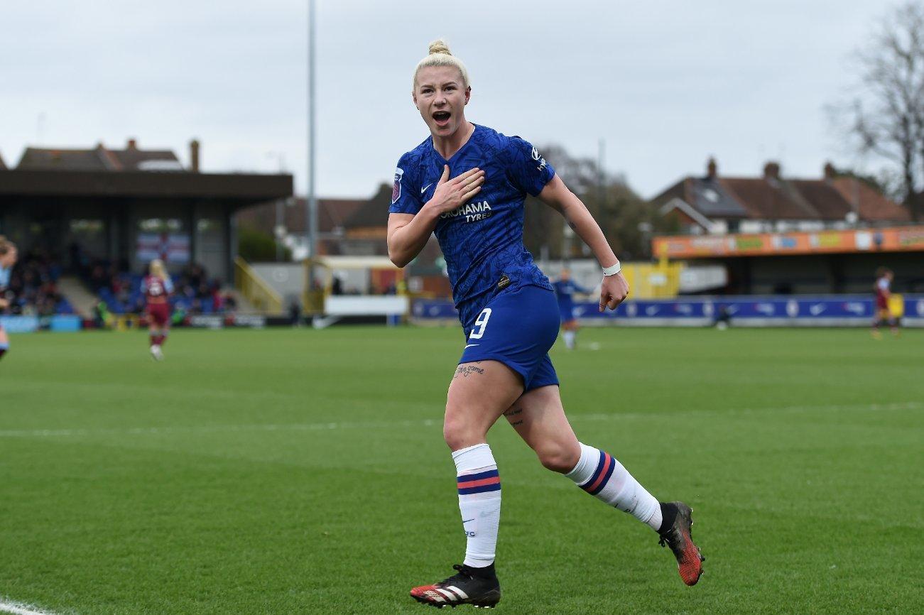 La internacional inglesa Beth England marcó un doblete en la victoria arrolladora de las Blues. / Chelsea-Twitter