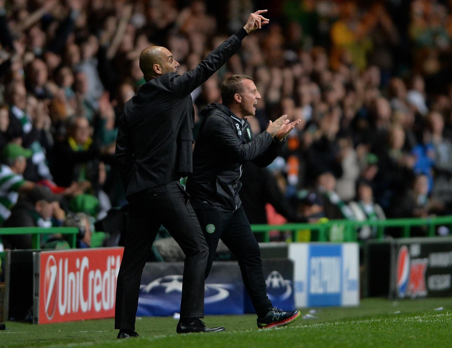 Brendan Rodgers se enfrenta a Pep Guardiola