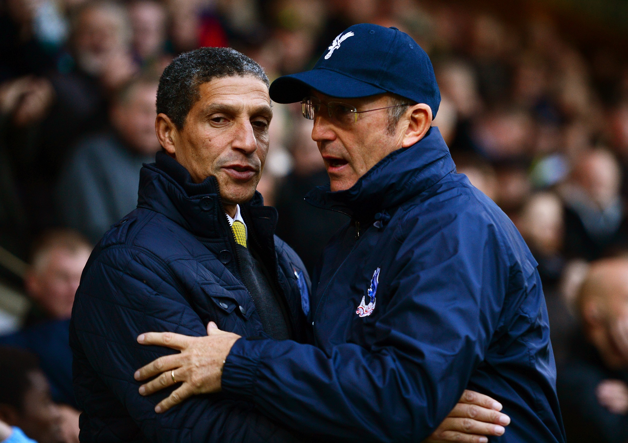 Chris Hughton y Tony Pulis