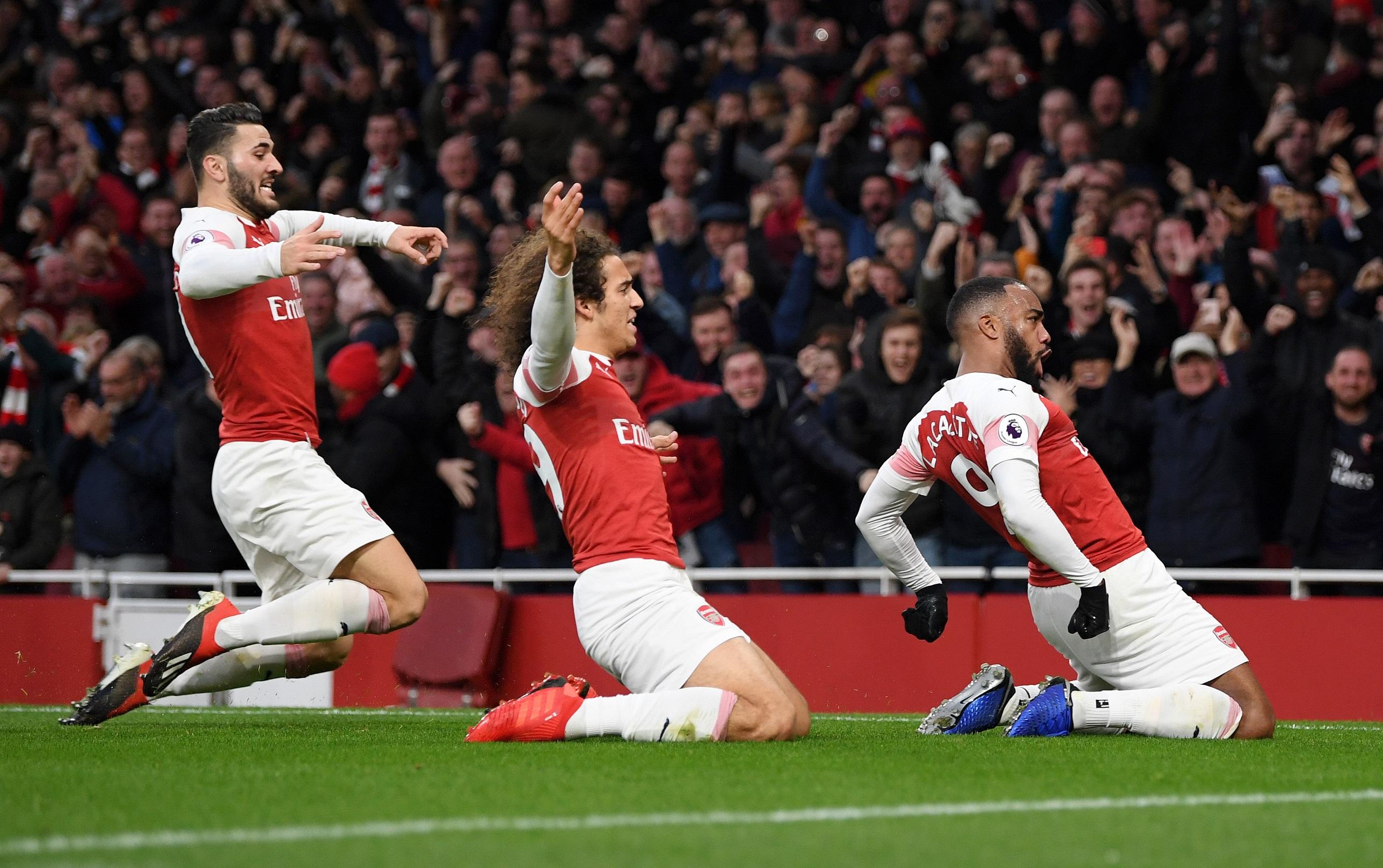 El Arsenal ganando el North London Derby