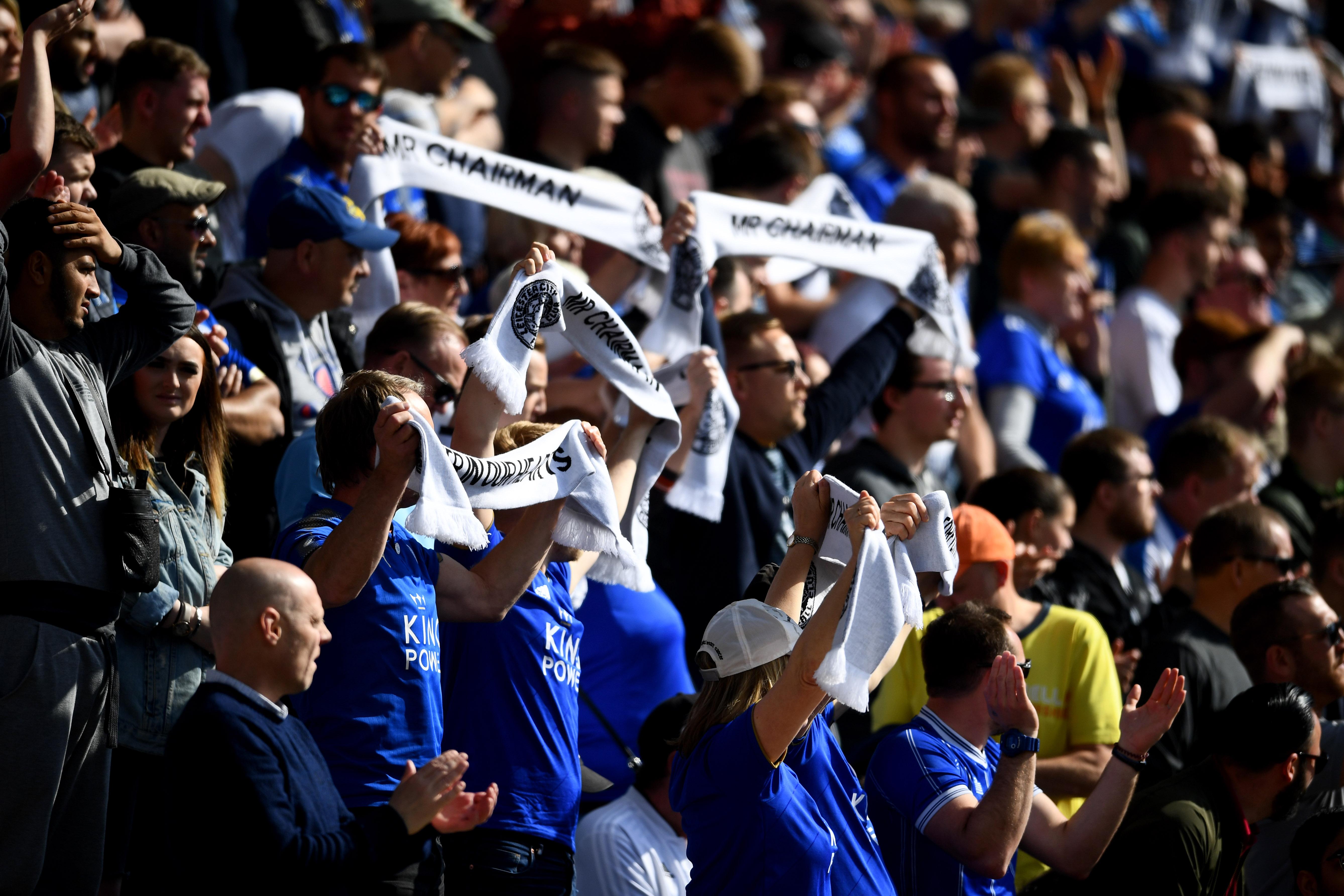 La afición del Leicester