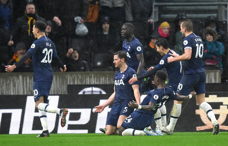 Jan Vertonghen desbloqueó la victoria para el Tottenham en Wolverhampton