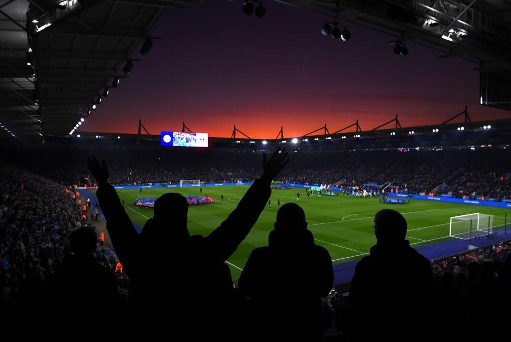Vista desde la grada del King Power Stadium. / Getty Images