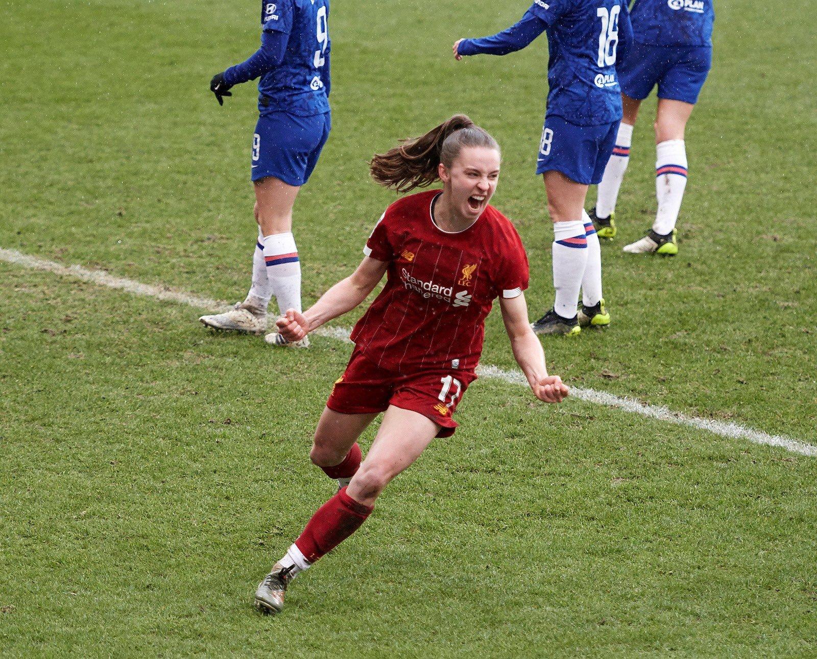 Niahm Charles marcó por tercera jornada consecutiva. / Liverpool FC