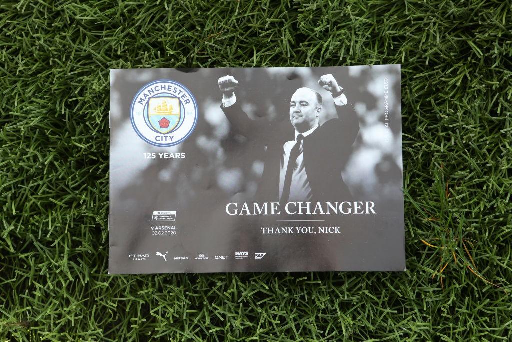 """El Manchester City se despedía de su entrenador con el siguiente mensaje: """"Game Changer"""". / Getty Images"""