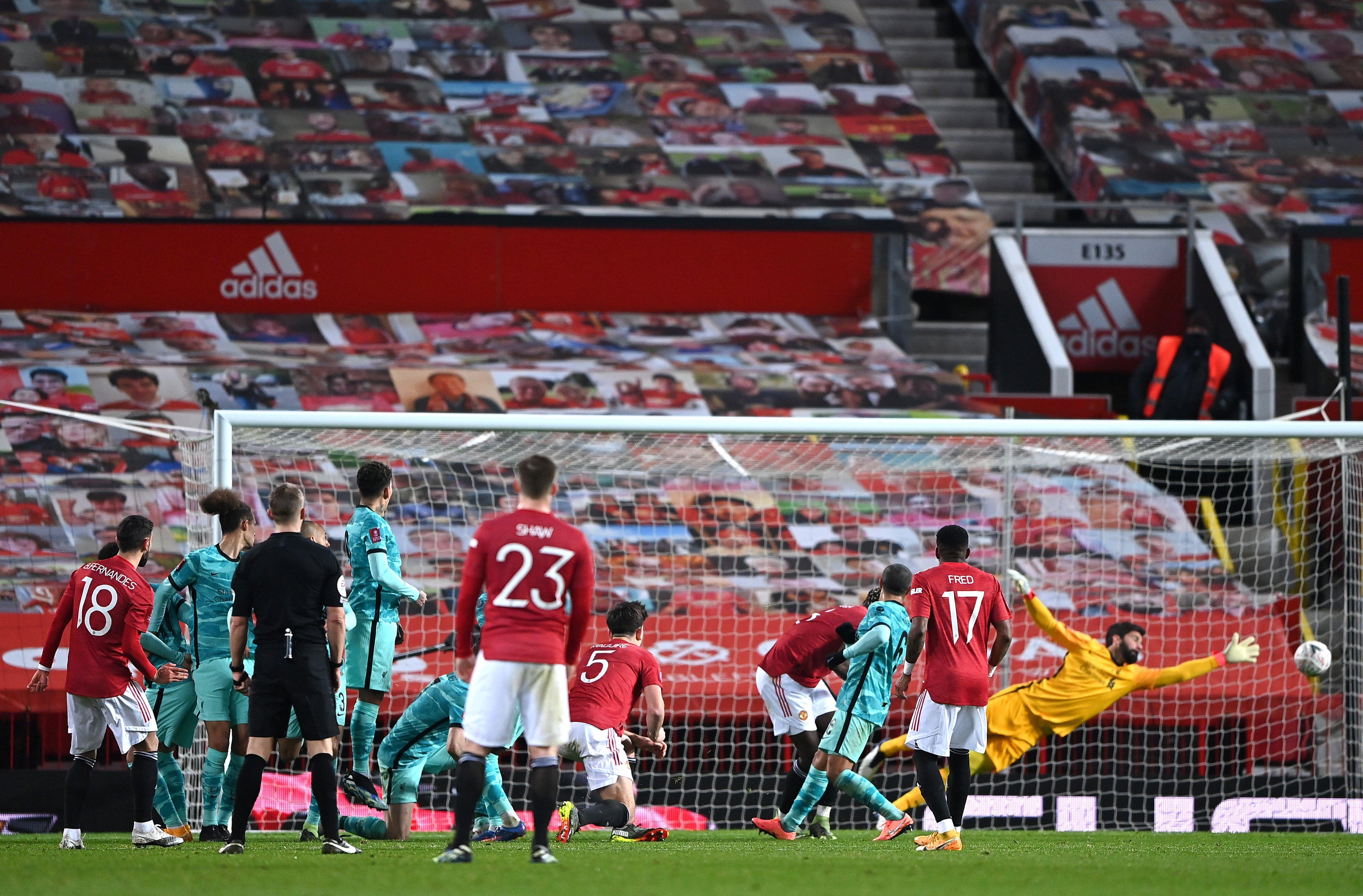 El Manchester United venció al Liverpool