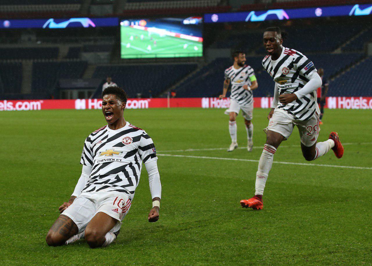 Marcus Rashford marcó el gol ganador en el Parque de los Príncipes