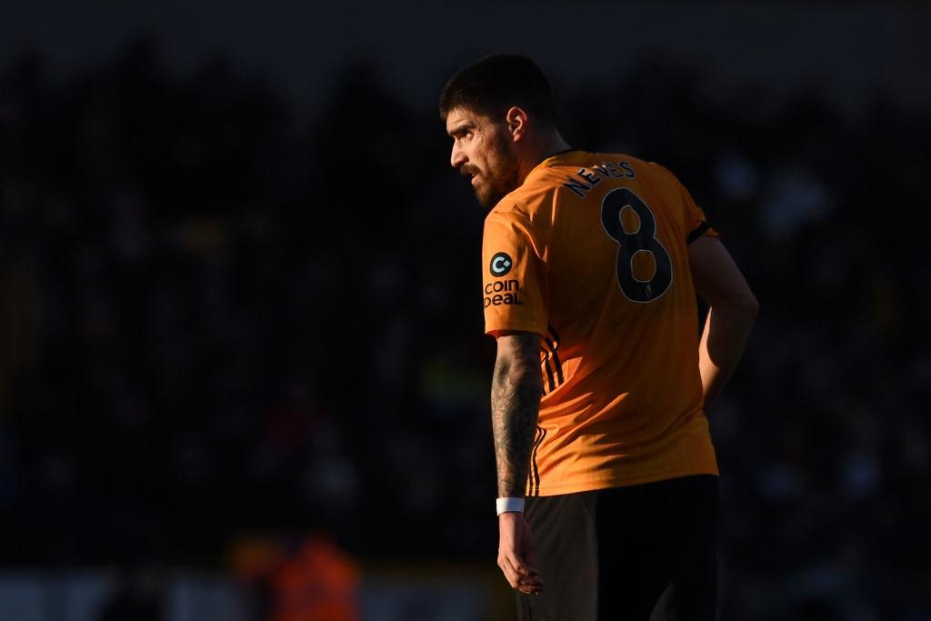 El sutil cambio de posición de Rubén Neves ha sido crucial para la recuperación de los mejores Wolves. / Getty Images