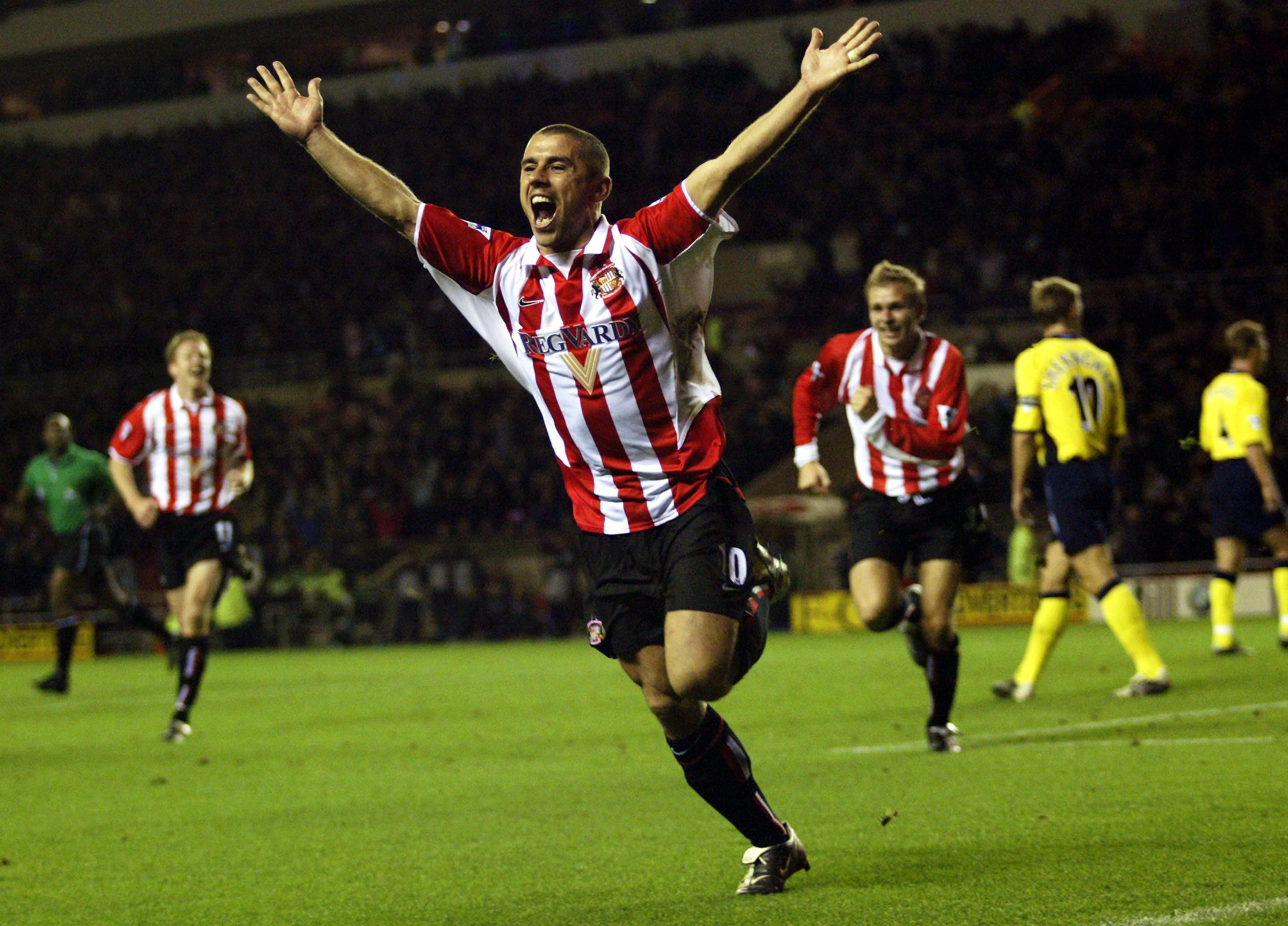 Kevin Phillips ostenta el récord del mejor debut como goleador con sus 30 tantos en la 1999/20 con el Sunderland. / Getty Images