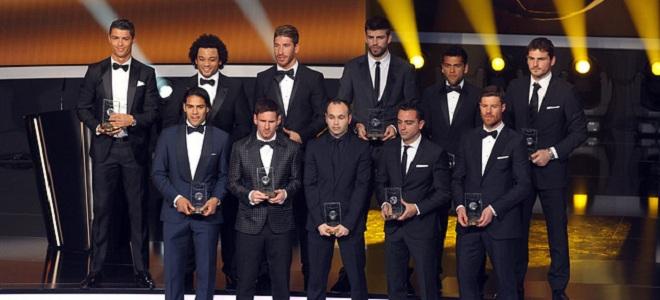 La liga española copó el once de la FIFA
