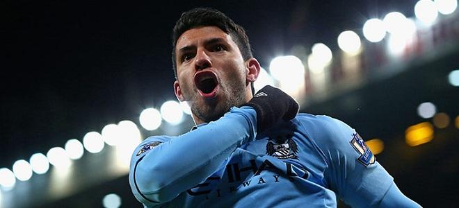 Agüero es una de las pocas bazas del Manchester City en la eliminatoria