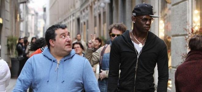 Mino Raiola y Mario Balotelli