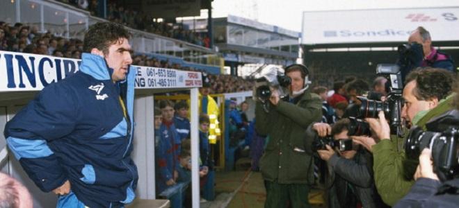 Eric Cantona en su etapa en Leeds