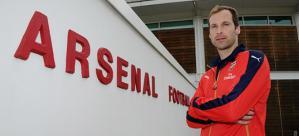 Petr Cech con su nueva equipación