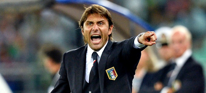 Antonio Conte con la selección italiana