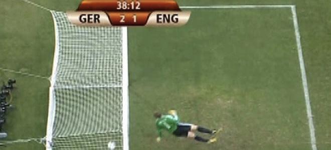 Gol legal anulado a Frank Lampard en los octavos de final del Mundial