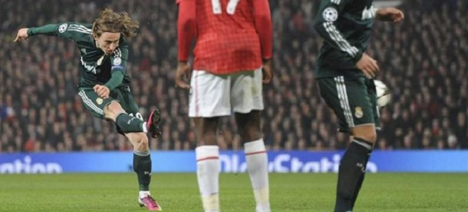 Modric fue decisivo en Old Trafford