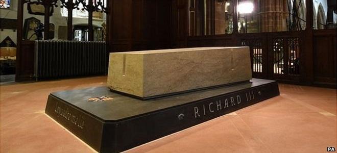 Tumba de Ricardo III en la catedral de Leicester