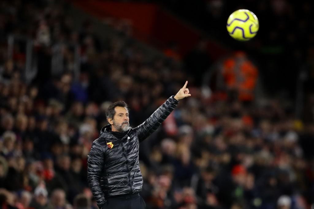 Quique Sánchez Flores fue el segundo entrenador del Watford esta temporada. / Getty Images
