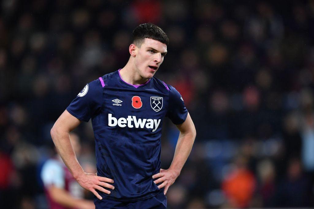 El West Ham atesora futbolistas de gran potencial como Declan Rice, pero los resultados no llegan. / Getty Images