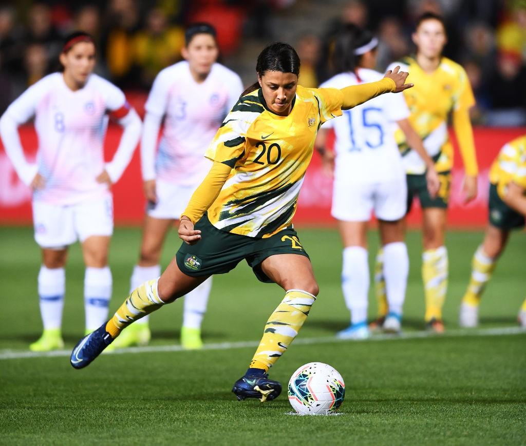 El Chelsea se ha adelantado a la competencia internacional para firmar a la delantera australiana Sam Kerr. / Getty Images