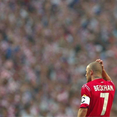 David Beckham ante Croacia en la Euro 2004