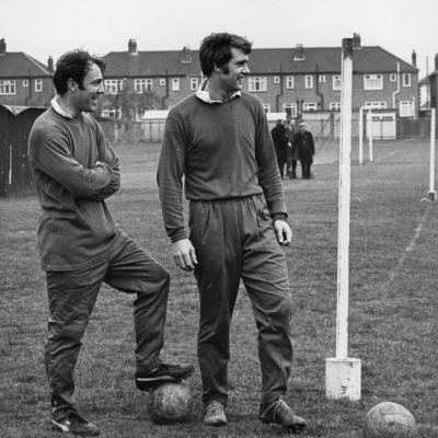 Jimmy Greaves y Geoff Hurst en 1970