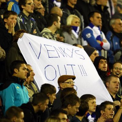 Los aficionados del Blackburn protestan contra los Venky