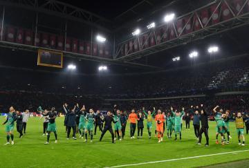 El Tottenham tras su increíble victoria ante el Ajax