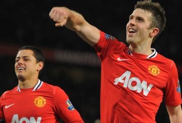Michael Carrick fue el mejor del United y completó su actuación con un gol