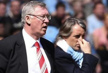 Roberto Mancini ganó la partida a Alex Ferguson en el derbi de Manchester