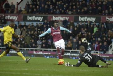 Kouyaté anotó el segundo tanto de los Hammers