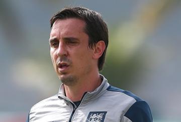 Gary Neville con Inglaterra