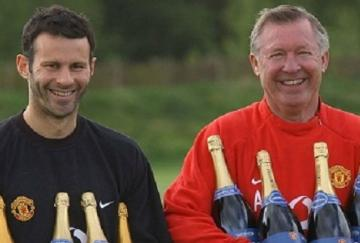 Ferguson y Giggs posan tras conquistar 8 Premier League