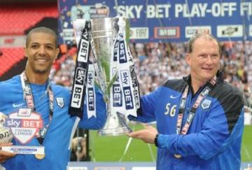 Jermaine Beckford y Simon Grayson
