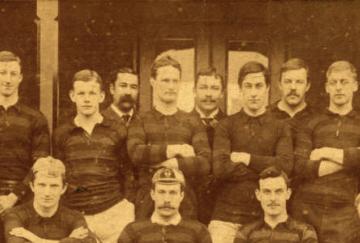 Fotografía del Blackheathe FC, uno de los fundadores de la FA en 1863