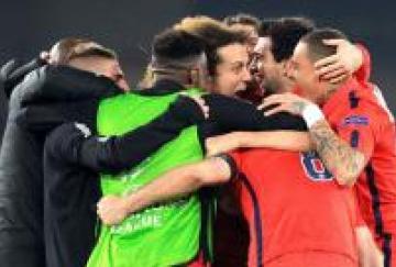 Los jugadores del PSG celebran la victoria