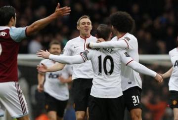 Rooney fue el protagonista del partido