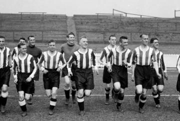 El Notts County entrenando en Meadow Lane en 1929