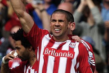 Jonathan Walters anotó el gol que dio la ventaja al Stoke en la ida