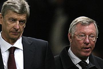 Arsène Wenger y Sir Alex Ferguson