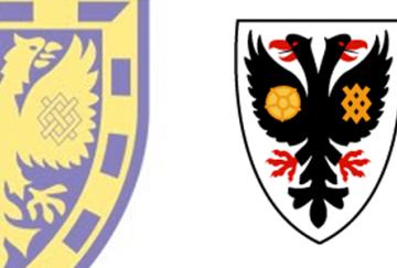 Los escudos del antiguo y el nuevo Wimbledon