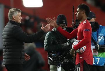 Marcus Rashford marcó un estelar hat-trick frente al RB Leipzig