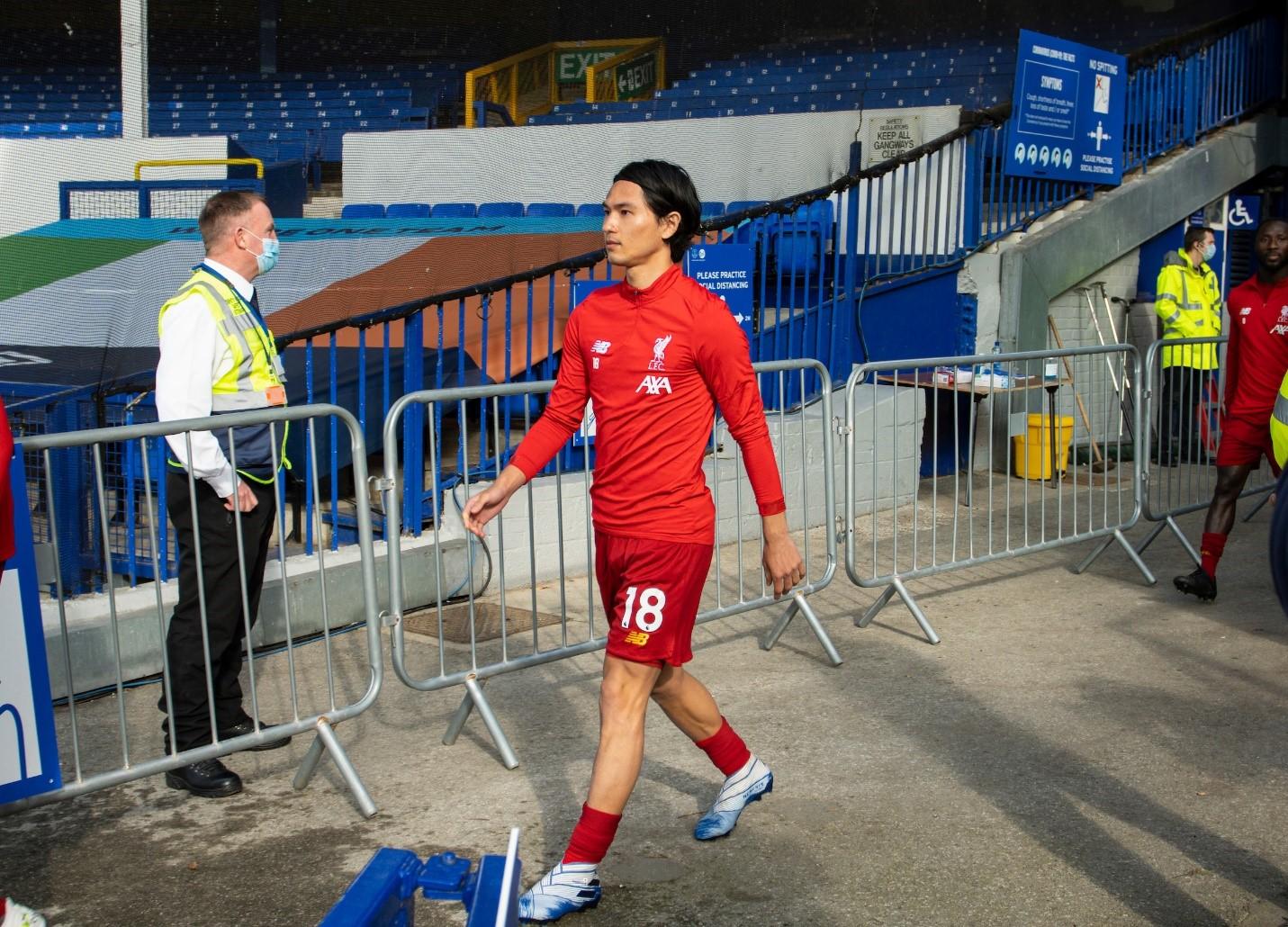 Takumi Minamino fue titular en la primera nueva encarnación del Liverpool
