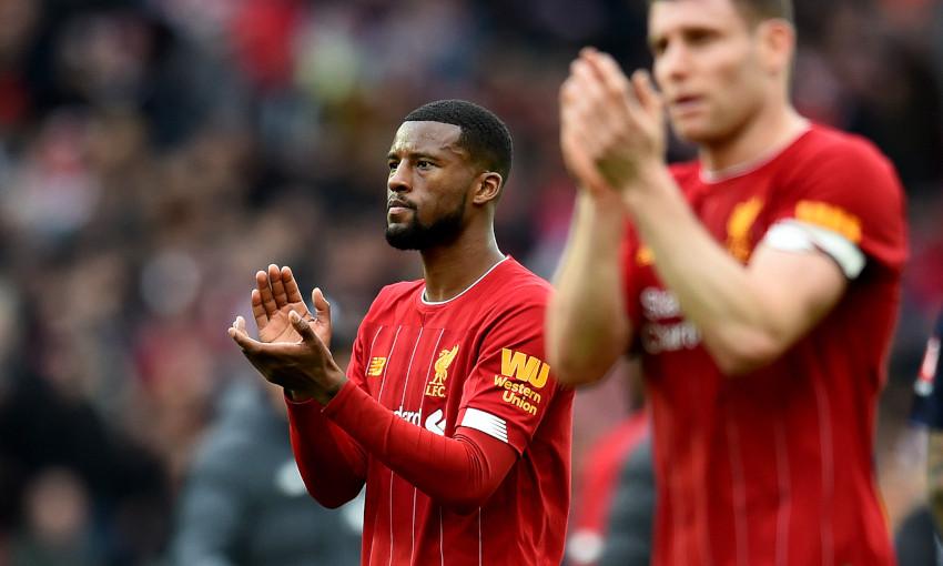 Wijnaldum y Milner. / Liverpool