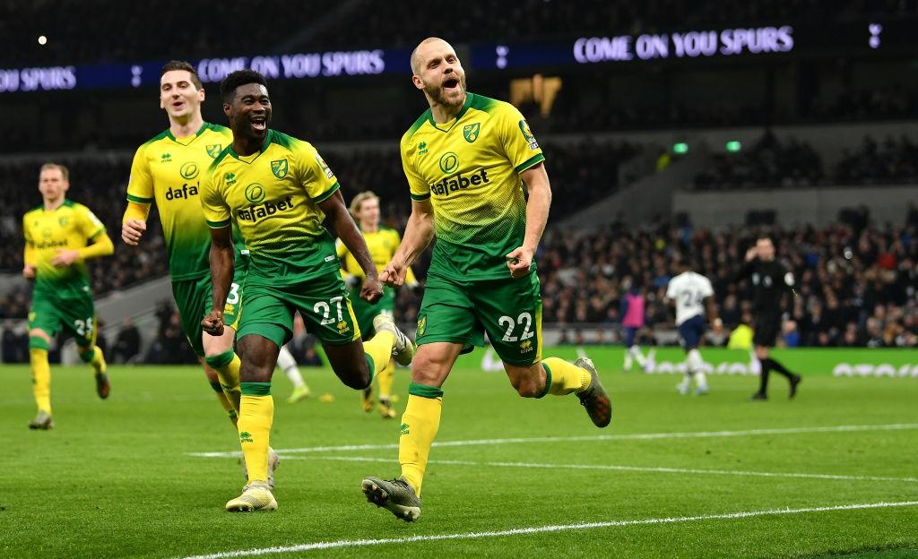 Pese a algunas malas rachas, el buen ritmo goleador de Pukki es una de las grandes esperanzas de los Canaries. / Getty Images