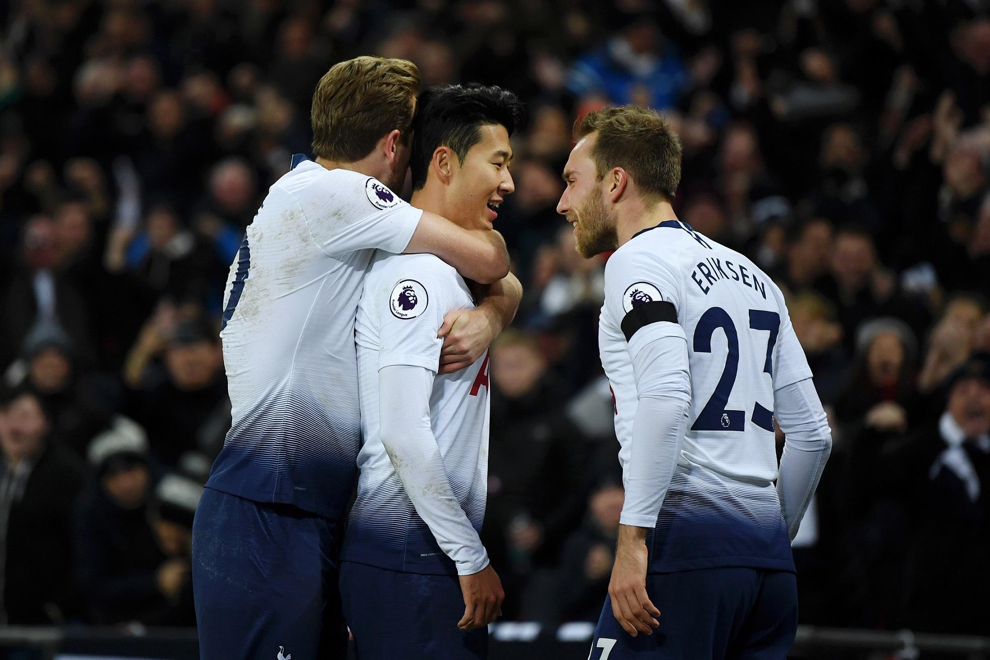 Tottenham celebrando