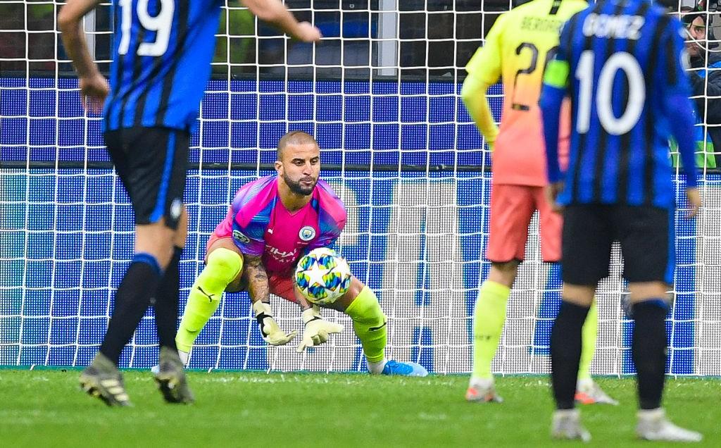 Kyle Walker jugando de portero frente al Atalanta fue la nota más curiosa de una plácida fase de grupos para el City. / Getty Images